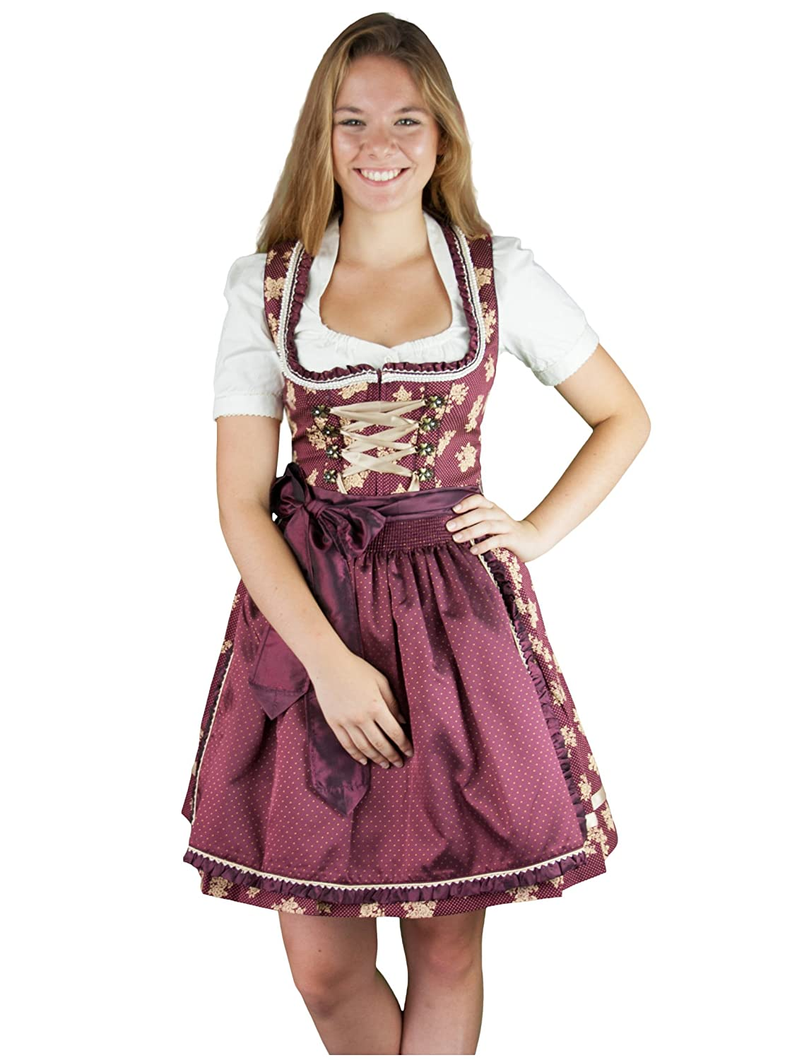 kr ger dirndl rot gold jetzt bestellen. Black Bedroom Furniture Sets. Home Design Ideas
