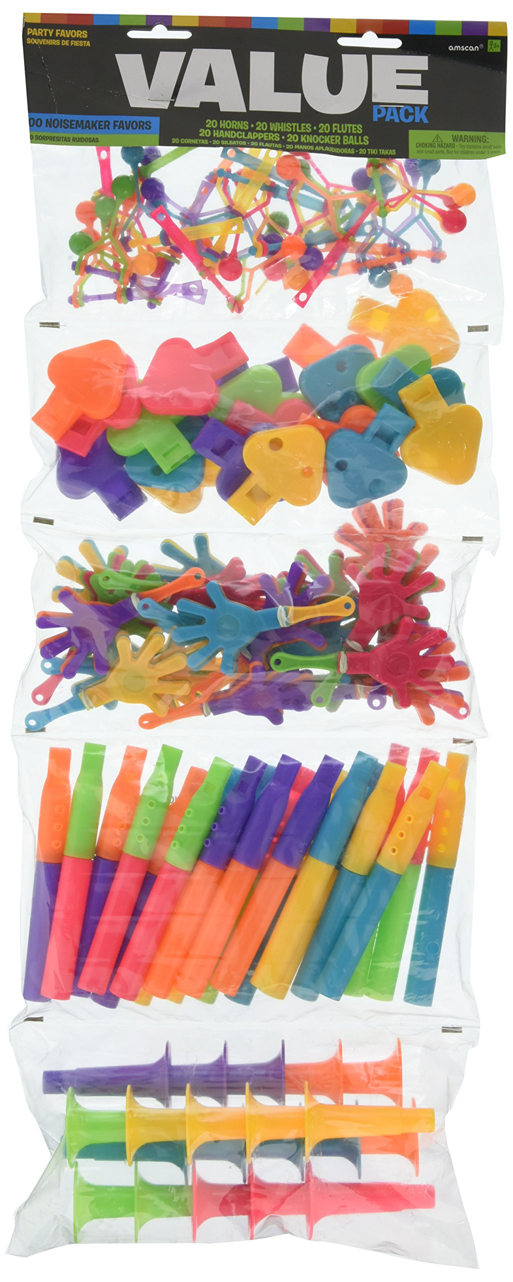 Noisemakers Mega Value Mix   Party Favor   100 Ct. by amscan
