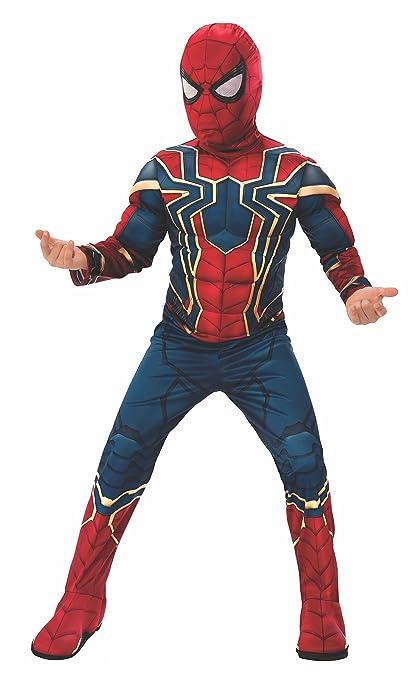 Avengers - Disfraz de Spiderman Iron Spider de Infinity Wars para niños, 8-10 años (Rubies 641057-L)