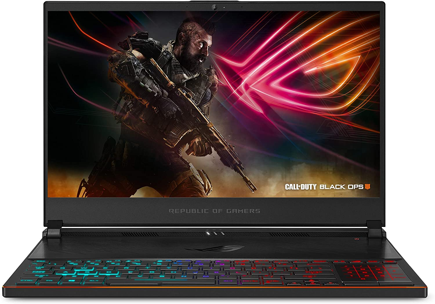 "ASUS ROG Zephyrus S Ultra Slim Gaming Laptop, 15.6"" 144Hz IPS Type, Intel i7-8750H Processor, GeForce GTX 1070 8GB, 24GB DDR4, 1TB PCIe NVMe SSD, Military-Grade Chassis, Windows 10 Home - GX531GS-AH78"
