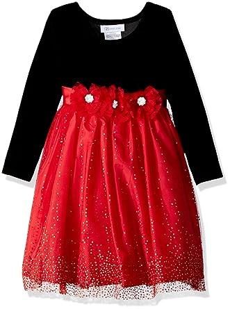 15152e1e813 Bonnie Jean Toddler Little Girls  Long Sleeve Stretch Velvet Party Dress
