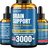 Brain Supplement for Memory, Focus, Energy & Clarity - Natural Nootropic with Ginkgo Biloba, Ginseng & L-Tyrosine - USA Made
