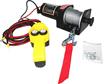 ATV//BOAT//TRUCK//CAR 12V Input 1 HP New 2000 lbs ELECTRIC TRAILER RECOVERY WINCH