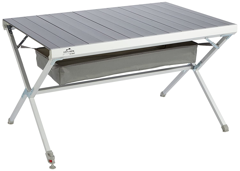 Explorer Titanium Tisch 122x79x70cm Aluminium Alu Campingtisch Rolltisch Klapptisch Falttisch klappbar