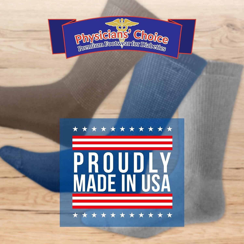 Diabetic Crew Socks for Men - 12 Pack - Gray - Size 10-13: Clothing