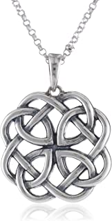 Sterling silver celtic knot pendant necklace 18 amazon jewelry sterling silver celtic knot round pendant necklace 18 mozeypictures Image collections