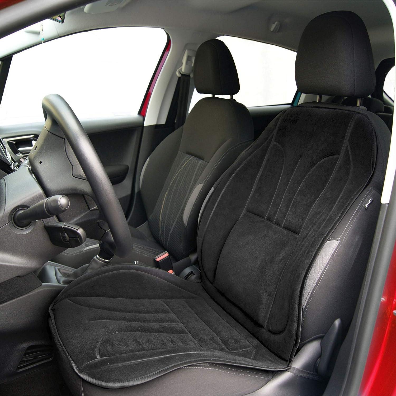 Saferide Sitzauflage Auto Vordersitze Autositzmatte Wasserdicht Autositzbezug Fahrersitz Universal Sitzschutz Velours Schwarz Für Airbag Geeignet 1 Autositz Vorne Auto
