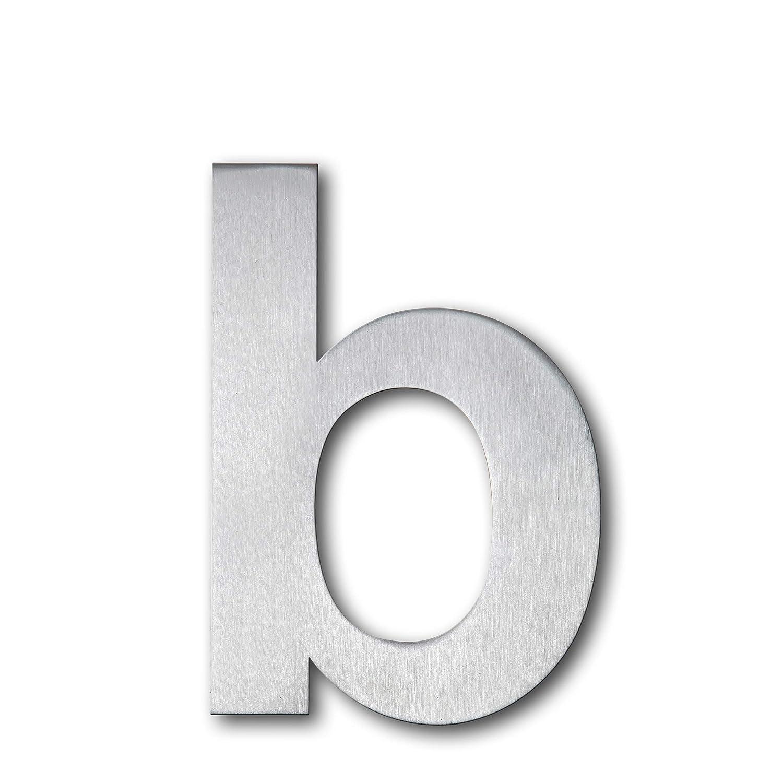 QT Número de casa moderna - 15 Centímetros - Acero inoxidable (Letra b), Apariencia flotante, Fácil de instalar y hecho de acero inoxidable 304 sólido: ...