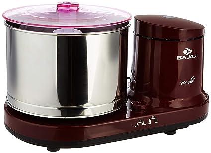 (CERTIFIED REFURBISHED) Bajaj WX 3 150-Watt Wet Grinder without Arm (Maroon)