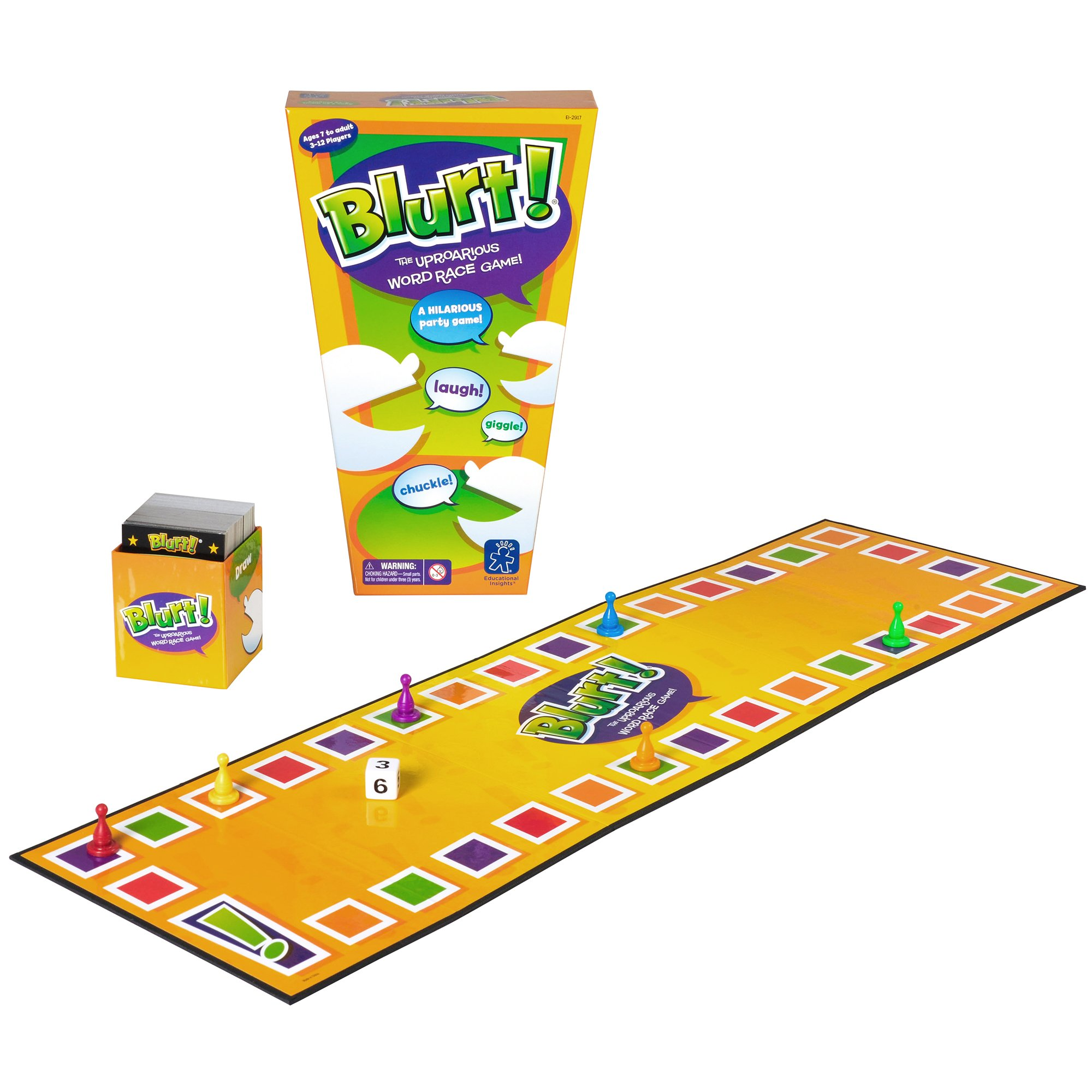 Educational Insights Blurt! Word Game, Includes Over 1200 Clues, Perfect Family Game for Ages 7 and Up