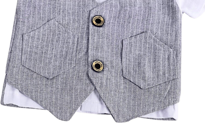 AmzBarley Baby Jungen Bekleidungssets Gentleman Anzuge Outfit Bowknot Weihnachts Abendanzug Formal Party Anzug Kinder Schuluniform Bekleidung Set Outfit Hochzeit Zeremonie Geburtstag