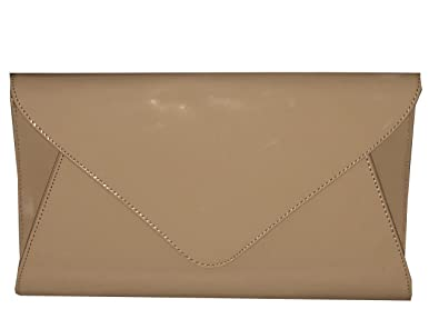 f2049bc23cf Retro Womens Patent Envelope Ladies Bridal Party Prom Evening Over Sized  Clutch Handbag
