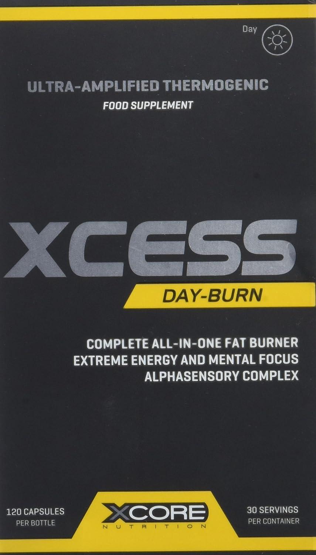Xcore Nutrition Xcess Day-Burn - 120 Cápsulas: Amazon.es: Salud y cuidado personal