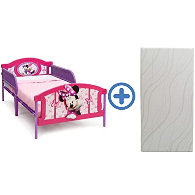 Delta Children Plastic 3D-Footboard Twin Bed & 6-Inch Memory Foam Twin Mattress, Disney Minnie Mouse: Baby