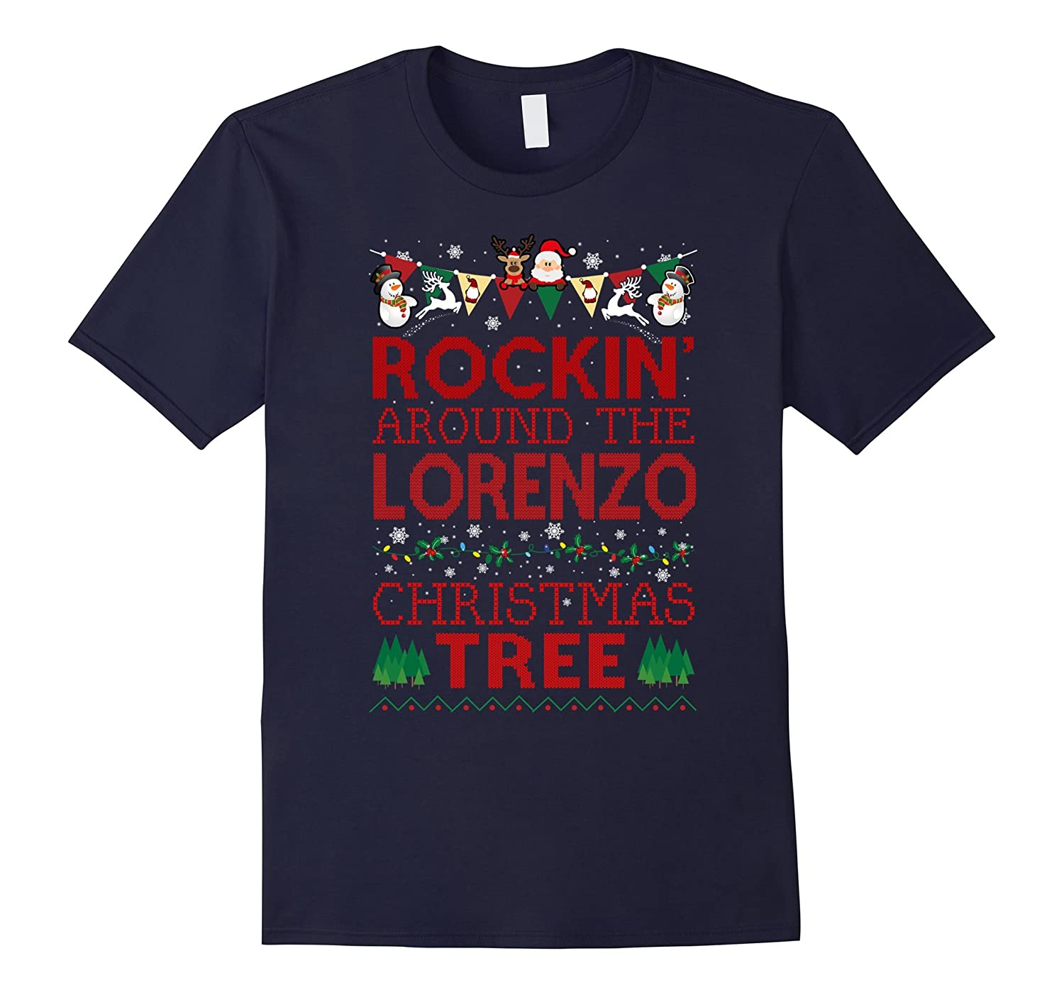 Lorenzo Family Christmas T-shirt-RT