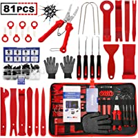 Flymony Trim Removal Tool, 81Pcs Auto Trim Removal Tool Set Pry Tool Kit with Multifunction Clip Plier Fastener Remover…