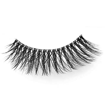 cecc9ee1fae Amazon.com : Arimika 3D Faux Mink Fake Eyelashes Comfortable Handmade False  Lashes 2 Pairs Pack in Style L90 (Clear Band) : Beauty