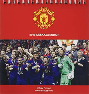 Amazon manchester united official 2018 calendar a3 poster manchester united fc official desk easel 2018 calendar month to view desk format desk voltagebd Image collections