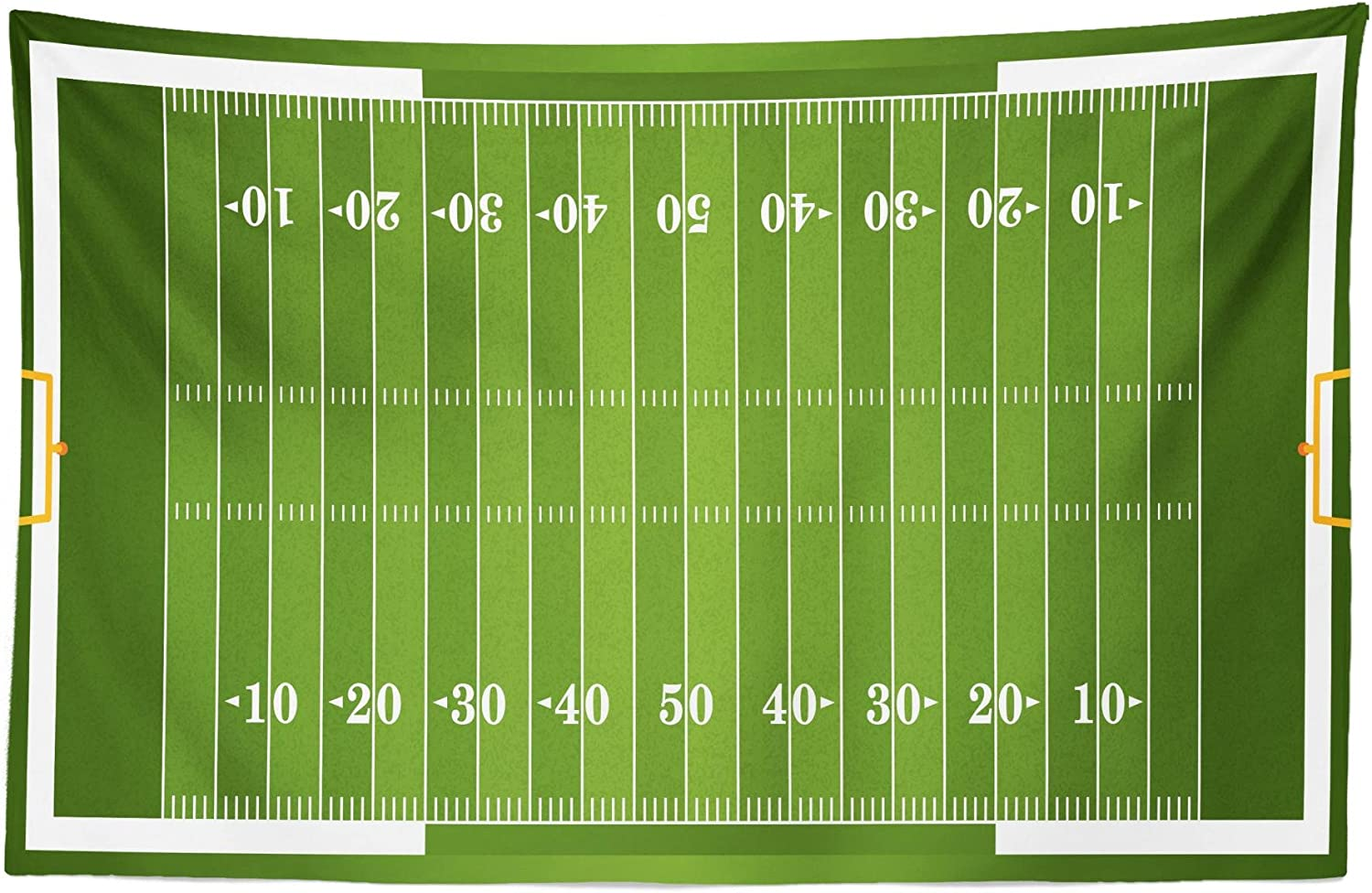 """Lunarable Football Tapestry, Sports Field in Green Gridiron Yard Competitive Games College Teamwork Superbowl, Fabric Wall Hanging Decor for Bedroom Living Room Dorm, 45"""" X 30"""", White Green"""