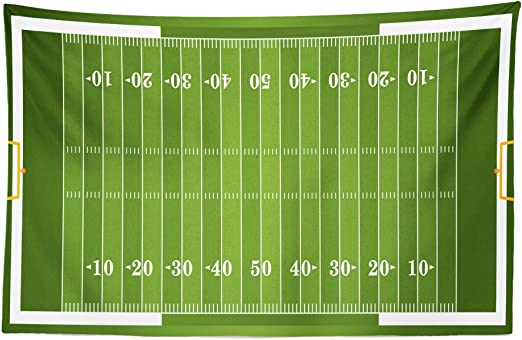 Amazon Com Lunarable Football Tapestry Sports Field In Green Gridiron Yard Competitive Games College Teamwork Superbowl Fabric Wall Hanging Decor For Bedroom Living Room Dorm 45 X 30 White Green Home Kitchen