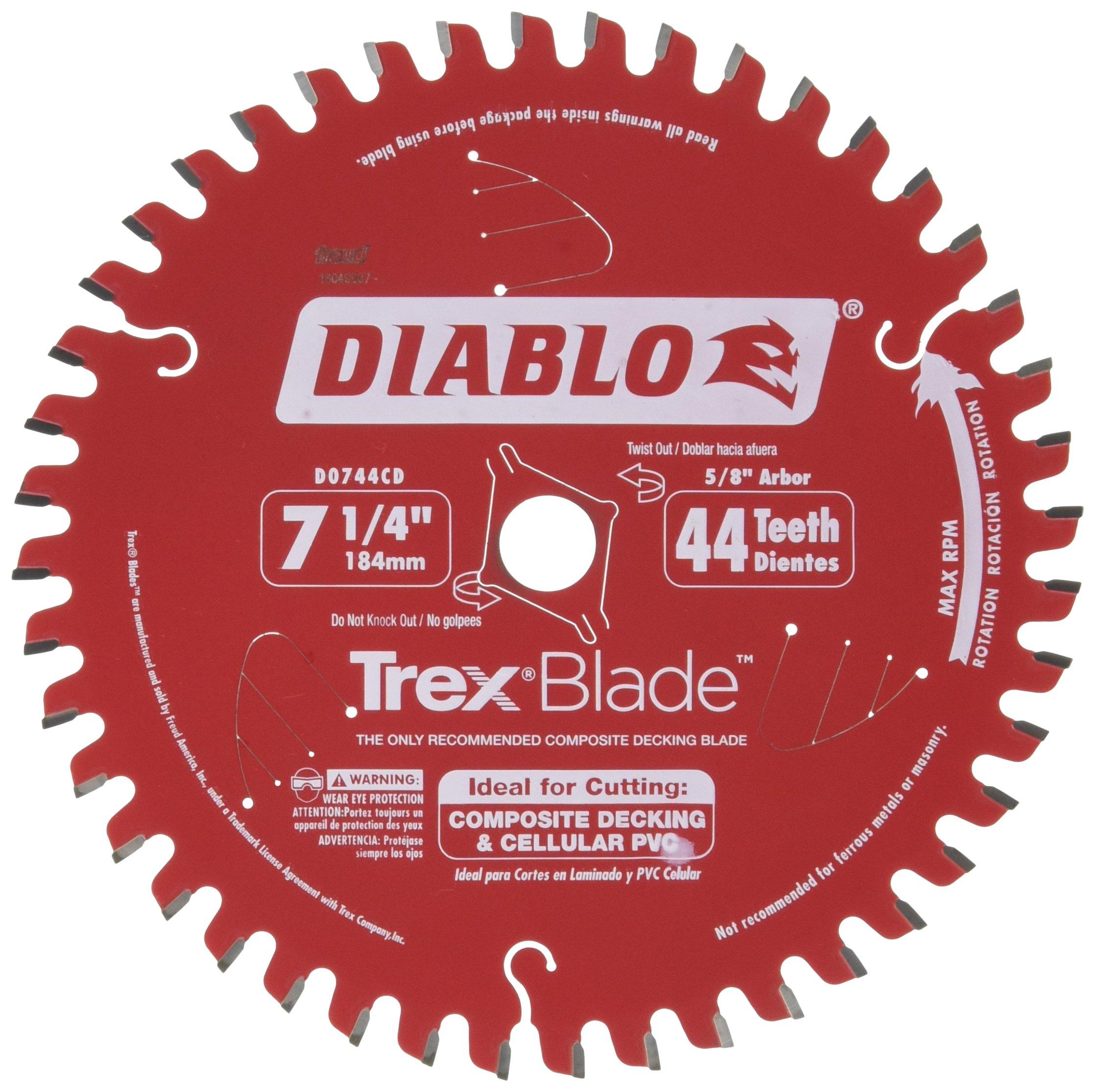 Hoja Sierra Diablo por Freud D0744CD Ø184mm - 44 Dientes - eje 16mm para Plastico