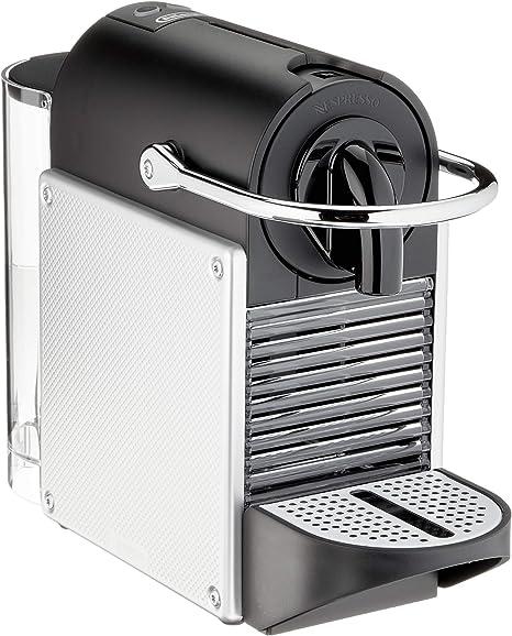 Nespresso DeLonghi Pixie EN124.S Cafetera monodosis cápsulas, 19 Bares, depósito Agua 0.7 L, Apagado automático, Plata, Incluye pack de bienvenida con 14 cápsulas: Amazon.es: Hogar