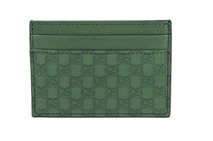 ca9f51790ff7 Image Unavailable. Image not available for. Colour: Gucci Microguccissima  Leather Money Clip, Marsh Green 308915