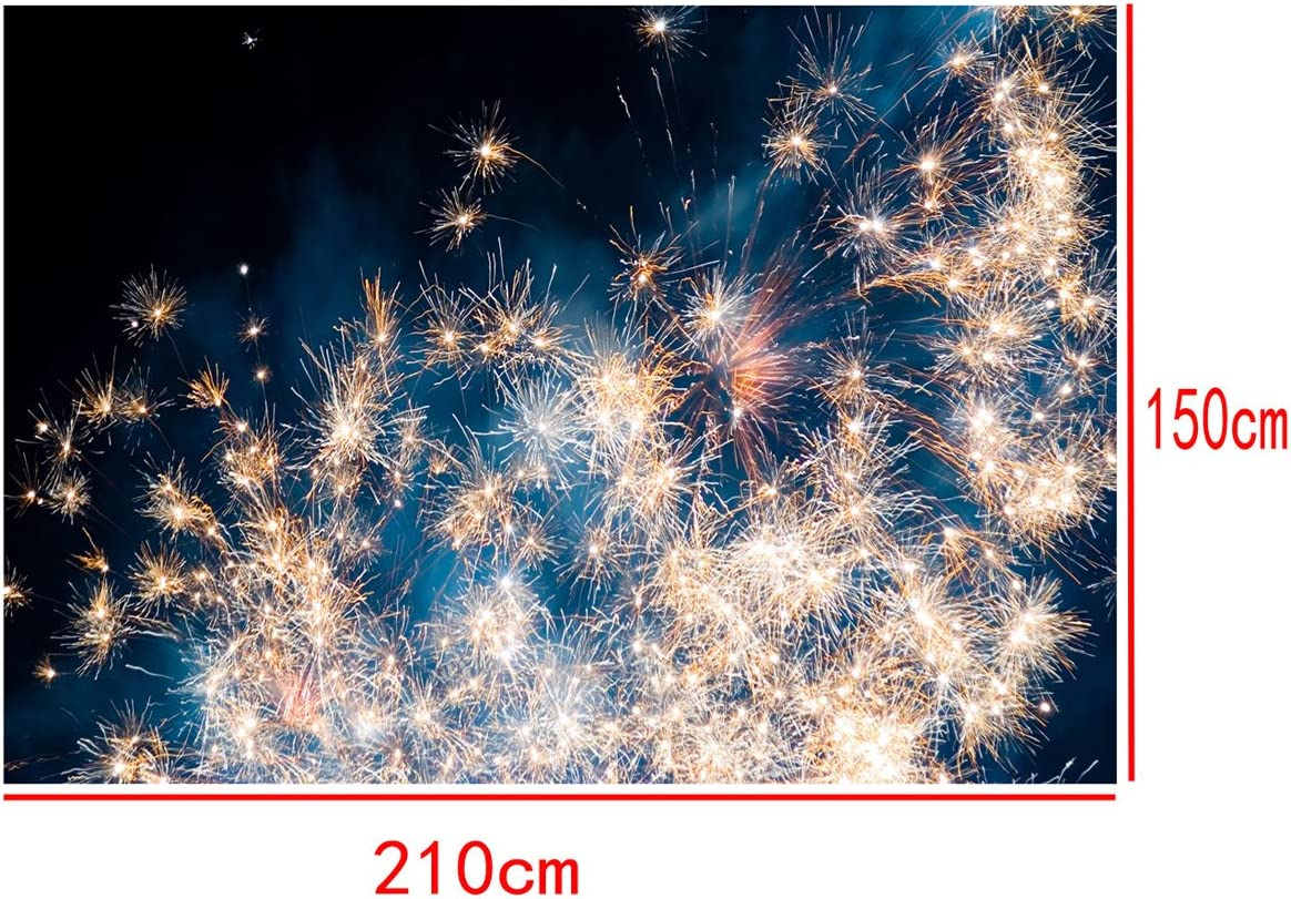 7x5 ft Bright Fireworks Fancy Photography Backdrops Lightweight Backdrops