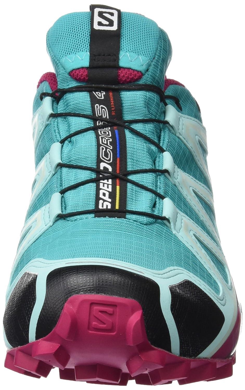 Salomon Women's Speedcross 4 GTX W Trail Running Shoe B01HD2NGD0 6.5 B(M) US|Ceramic/Aruba Blue/Sangria