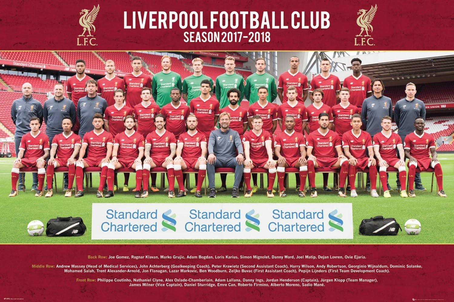 GB eye Ltd Liverpool, diseño de Foto de Equipo 17/18, Maxi póster ...