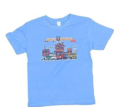 Camiseta Algodón Infantil Azul Celeste - Perdido en Madrid ...