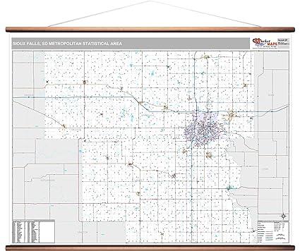 Amazon Com Marketmaps Sioux Falls Sd Metro Area Wall Map 2018