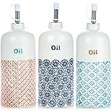 Nicola Frühling Olivenöl Spender Dressing Flaschen - 500ml - Set von 3 Farben