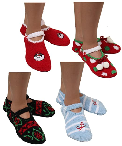 Christmas Fuzzy Socks.6 Pairs Women S Cozy Slipper Fuzzy Fulffy Socks Keep Your Feet Warm And Toasty