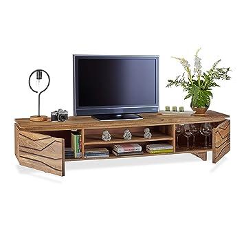Native Home TV Lowboard, Massivholz, 4 Fächer, niedrig ...