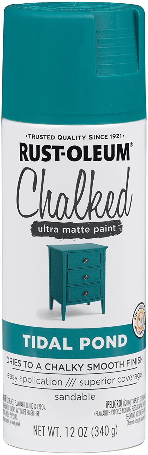 Rust-Oleum Series Rustoleum 302597 12OZ Tidal Pond Chalked Paint Spray,
