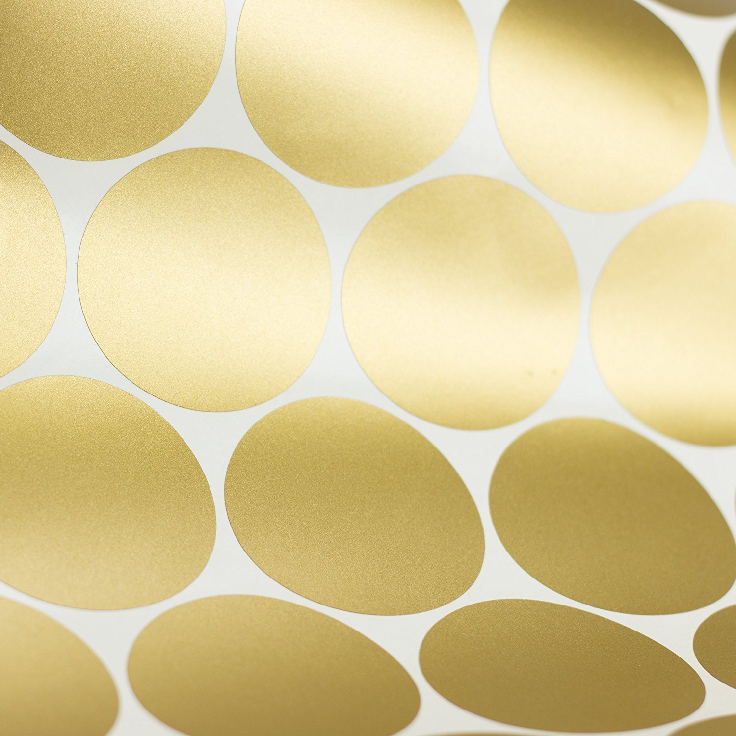 Gold Polka Dots, Removable Wall Sticker Home Decoration Vinyl Circle Wall Decal Vinyl Stickers Nursery Decor, 1.6 - 104 dots 1.6 - 104 dots Mofeng HK00DTMF