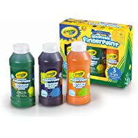 3-Piece Crayola Washable Bright Fingerpaint Secondary Colors