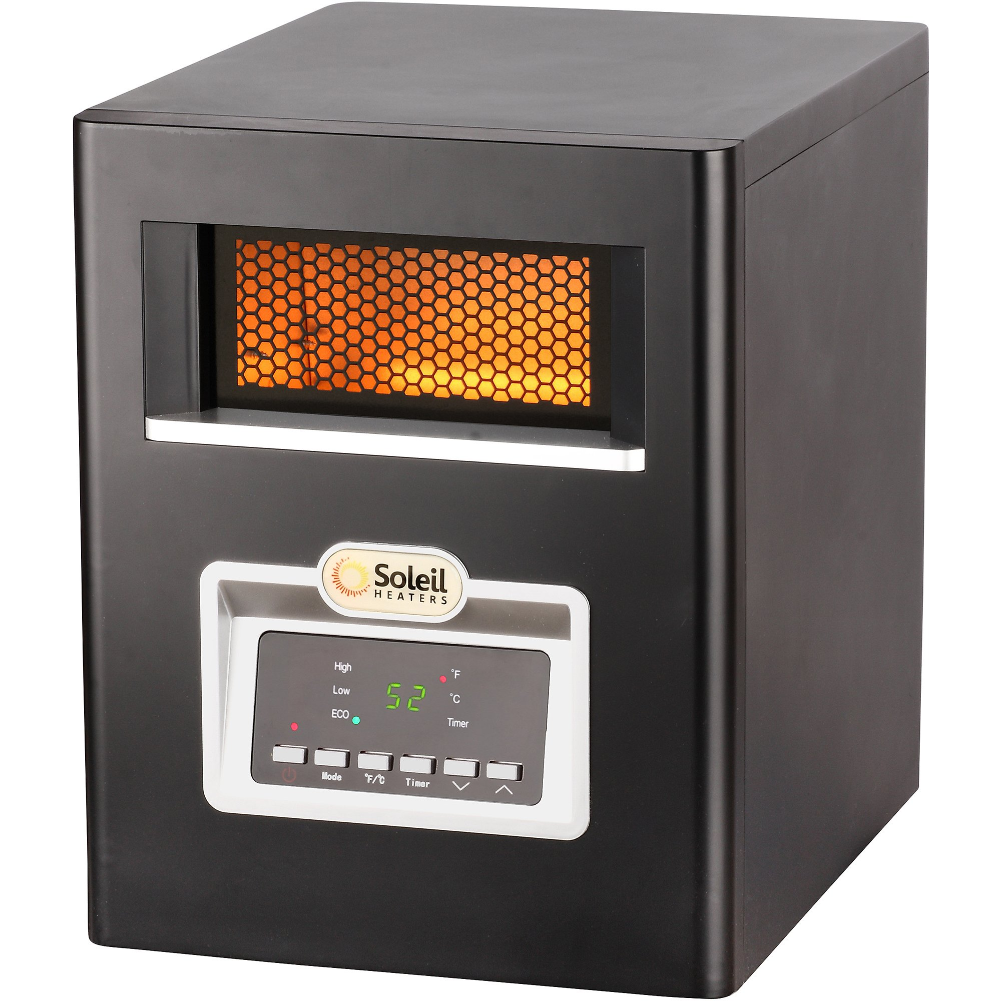 Soleil Electric Infrared Cabinet Space Heater with Remote Control, 1500W, PH-91F by Unknown