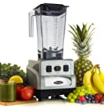 Omega Juicers OM6560S 3 Peak HP Blender 25000 RPM Features Easy to Use Toggle Controls Plus Dial Speed Control 11 Variable Speeds Plus Pulse and Stainless Steel Blade, Silver