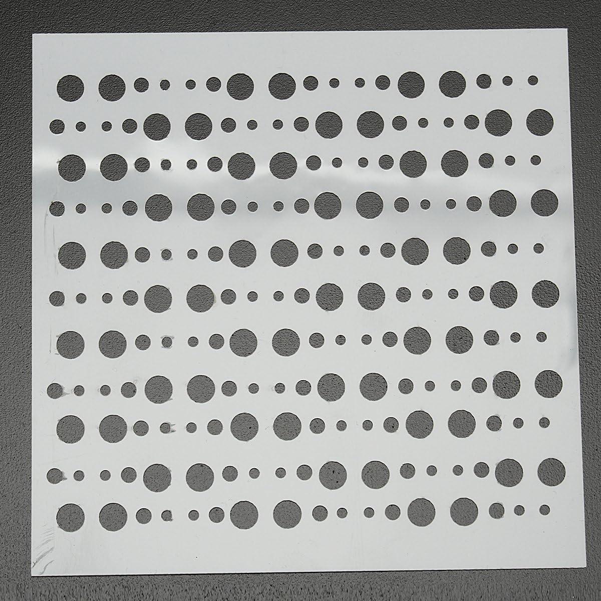 MASUNN Capas De Scrapbooking Pintura Plantillas De Repujado Aer/ógrafo Plantillas Artesanales Herramientas-04