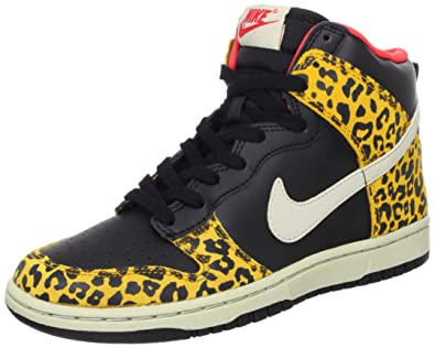the best attitude 455ae b3695 Nike Wmns Dunk High Skinny Leopard - Black Dark Gold (429984-011) womens