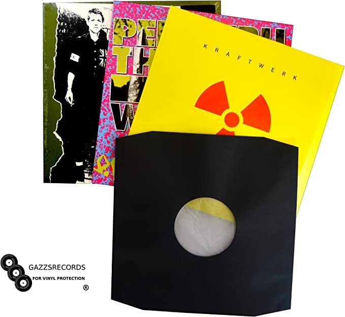 50 White 12 Inch Archival Grade High Density Paper Poly Lined Inner Record Sleeves 90gr Anti-Static bevelled Heat resistant up to 130c// 266 degrees Fahrenheit