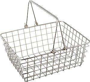 Spectrum Diversified Wire Storage Basket, Medium, Chrome (43270)