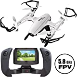 "Force1 Drone with Camera Live Video - ""Kestrel"" Drones with Camera for Adults and Kids w/ 4"" WiFi FPV Drone Camera LCD Remote + 2 Batteries and 8GB SD Card"