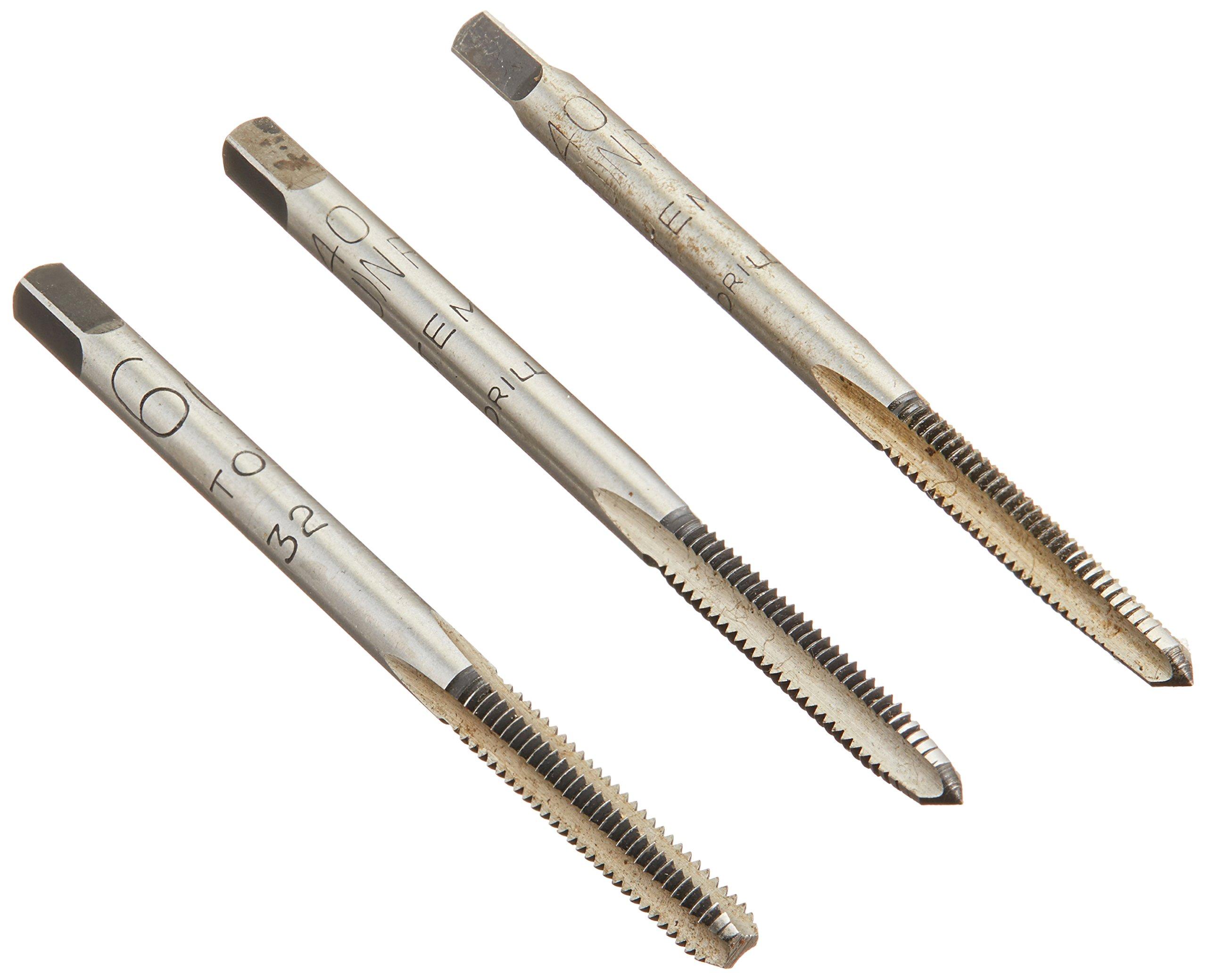 Alfa Tools CSHTS70513 6-40 Carbon Steel Hand Tap Set Taper/Plug/Bottom