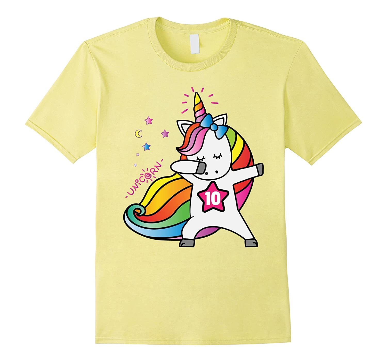 10th Birthday Shirt For Girl 10 Unicorn T October ANZ
