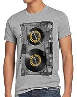 style3 Nonstop Play T-Shirt Herren kassette fotodruck turntable schallplatte