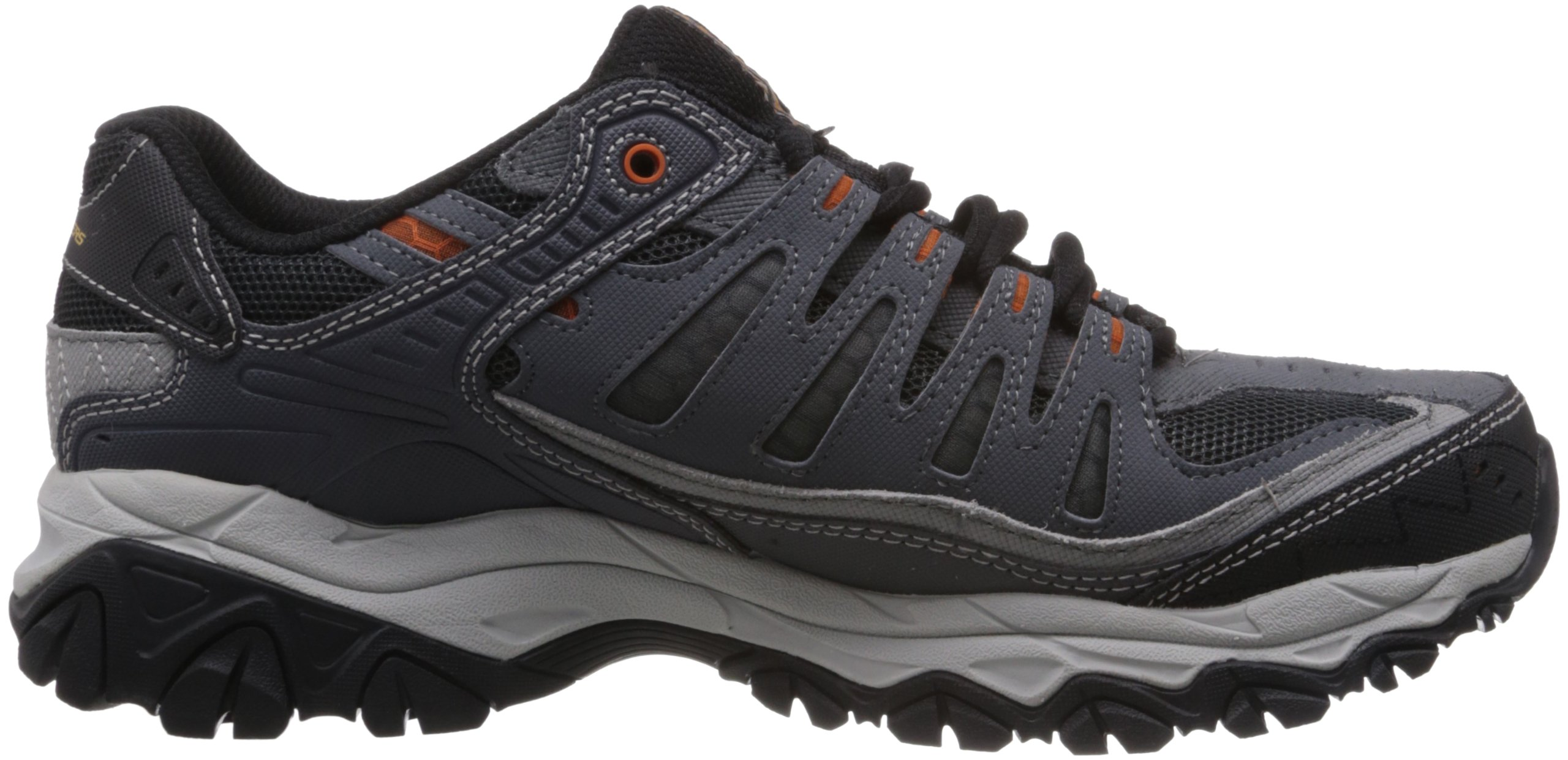 Skechers Sport Men's Afterburn Memory Foam Lace-Up Sneaker, Charcoal, 7 M US by Skechers (Image #6)