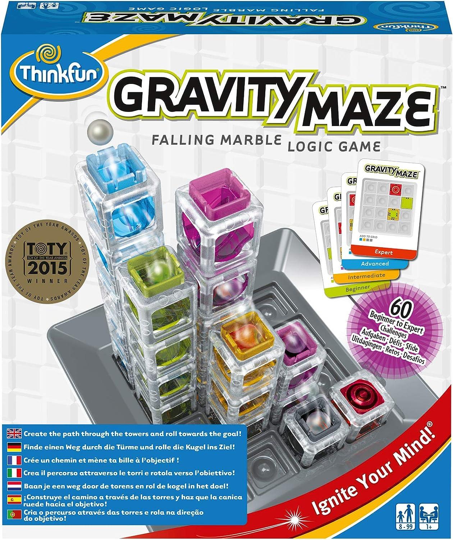 ThinkFun- Gravity Maze Juego de habilidad, Multicolor (Ravensburger 763399) , color/modelo surtido